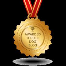 Top 100 Dog Blog award from Feedspot.com